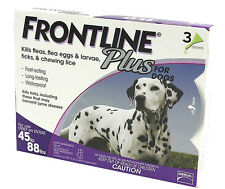 Merial Frontline Plus Flea and Tick Control for Dogs 45 to 88 lbs 3 Month Supply