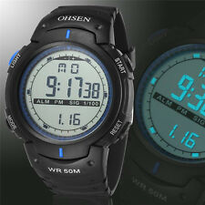 Fashion OSHEN Waterproof Men's  LED Digital Sports Diving Digital Wrist Watch