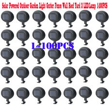 Solar Powered 3 LED Fence Gutter Light Outdoor Garden Yard Wall Pathway Lamp LOT