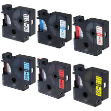 Compatible for DYMO D1 Color Label Tapes LabelManager Printer LabelPoint 1/4''