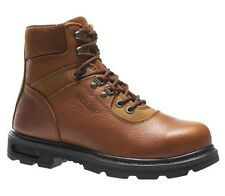 """Wolverine 6"""" Traditional Steel Toe Brown Mens Work Boots W04013"""