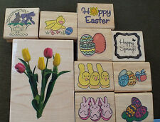 Rubber Wood Stamp Easter CHOICE Peeps Bunny Egg Chick Duckling Chocolate Basket