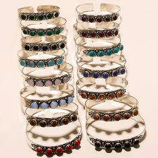 WHOLESALE LOT 925 STERLING SILVER OVERLAY GEMSTONE BRACELET/CUFF JEWELLERY