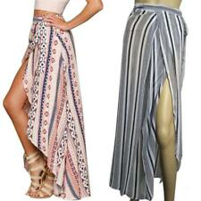 BOHO Hippy Gypsy Women Floral Long Maxi Skirt Casual Summer Beach Wrap Sun Dress