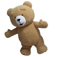 2017 Reenactment Theater Inflatable Plush Bear Mascot Costume Adult Size GIft