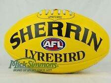 NEW Sherrin Leather Lyrebird AFL Ball (Full Size) - Yellow