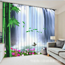 3D Waterfall 37 Blockout Photo Curtain Printing Curtains Drapes Fabric Window US