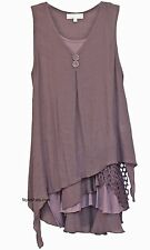 NEW Pretty Angel Clothing Vintage Apparel Two Piece Knit Top Tunic Mauves 69802
