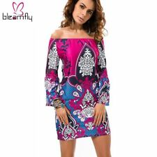 Women Shirt Summer Tunique Sundress Bohemian Boho Vetement Top