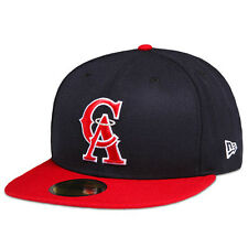 New Era California Angels Cooperstown 59FIFTY Fitted Cap Hat Navy Red