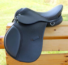 "14"" BROWN All Purpose English EVENT JUMP Saddle /Leathers 36"" /48"" Stirrup Irons"