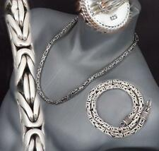 """7mm BALI BYZANTINE 925 STERLING SILVER MENS NECKLACE KING CHAIN 20 22 24 26 28"""""""