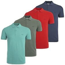 LACOSTE POLO - LACOSTE PH8984 MARL TONAL CROC POLO - NAVY, RED, ARMY, TURQUOISE