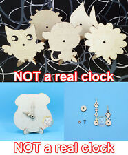 DIY Paint Your Own Animal Wooden Clock Kid Craft Time Educational Toy Home Decor