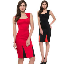 40s Womens Vintage Style Wiggle Dress Cocktail Party Bodycon Lady Pencil Office*