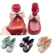 Fashion Baby Toddler Girls Cute Rain Boots Shoes With Bow Soft Shoes Kids Jelly