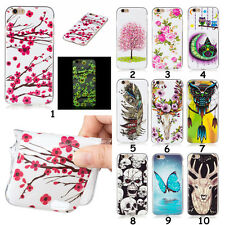 New Soft Slim Noctilucent Glow Flower Animal TPU Back Cover Case For Cell Phones