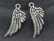 10/40/200pcs Antique Silver bird wings Jewelry Finding Charms Pendant 28x11mm
