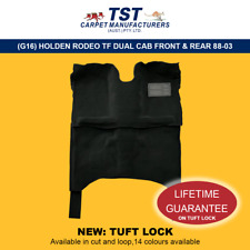 MOULDED CAR CARPETS (G16) HOLDEN RODEO TF DUAL CAB FRONT & REAR 88-03