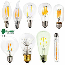 Retro E12 E27 E14 Dimmable LED Edison Bulb Light Filament Lamp Bright 4W 6W 8W