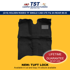 MOULDED CAR CARPETS (G15) HOLDEN RODEO TF SINGLE CAB UTE FRONT & 3/4 REAR 88-03