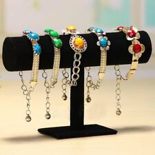 Velvet T-Bar Jewelry Rack Bracelet Necklace Stand Organizer Holder Display  BA