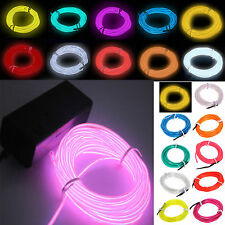 1/2/3/4/5M Flash Flexible Neon LED Glow EL Strip Tube Wire Rope Party Light LOBO