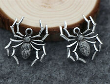 wholesale 10/50pcs Retro Style spider Tibet silver alloy Charms Pendants 30x35mm