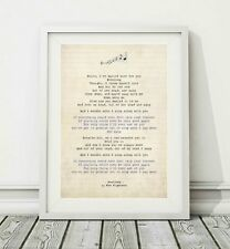 345 Foo Fighters - Everlong - Song Lyric Art Poster Print - Sizes A4 A3