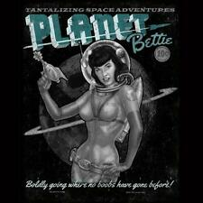 Retro Rockabilly Classic Vintage Planet Betty Page Pin Up Girl Adult T-Shirt