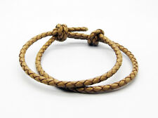 Leather Cord Bracelet Adjustable Sliding Knot Hand-crafted Wristband Black Brown