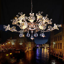 Creative Continental Iron glass Crystal chandeliers LED living room lighting New