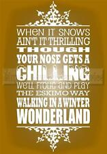 WINTER WONDERLAND CHRISTMAS Vinyl Wall Saying Lettering Quote Decor Decal Craft