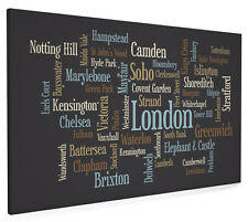 London Text Map Box Canvas and Poster Print (804)