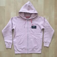 SUPREME SS17 SMALL RED BOX LOGO ZIP UP HOODED SWEATSHIRT HOODIE - PINK SIZE M XL