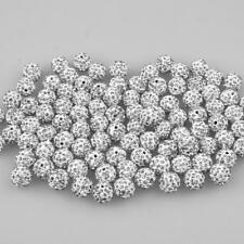 100pcs Rhinestone Crystal Pave Clay Spacer Ball Beads for Beading Jewelry Making