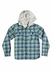 Quiksilver™ Snap Up Flannel - Hooded Long Sleeve Shirt - Boys