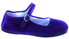 Discontinued Women's Purple Buckle Velvet Mary Jane  Shoes Sizes 4, 5, 6 Only!