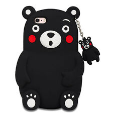 3D Cartoon Cute Kumamon Bear Silicone Soft Case Cover For iPhone/Samsung/Huawei