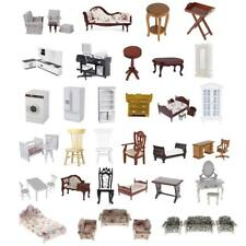 Wooden Furniture Dolls House Family Miniatures for 1:12 Dollhouse Decor Playset