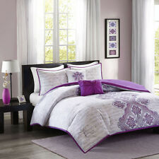 Beautiful Purple Bohemian Teen Girls 5-PC Comforter Set Twin Full/Queen NEW