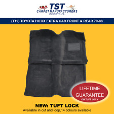 MOULDED CAR CARPETS (T19) TOYOTA HILUX EXTRA CAB FRONT & REAR 79-88