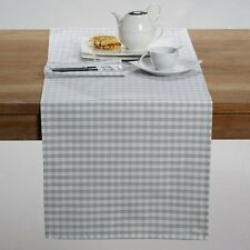 Garden Party Cotton Yarn-Dyed Gingham Check Table Runner