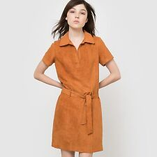 R Edition Womens Belted Faux Suede Dress