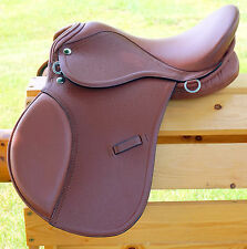 "15"" TAN All Purpose English EVENT JUMP Saddle / Leathers 36"" /48"" +Stirrup Irons"