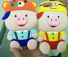 Newest 3D Cute Pig Soft Silicone Rubber Back Case Cover For IPhone 6 6S 7 Plus