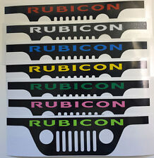 JEEP WRANGLER Windshield Decals RUBICON COLORS, Grill and Corner