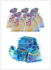"""50 25 3.3""""x4.7"""" Coralline Organza Jewelry Pouch Wedding Party Favor Gift Bag"""