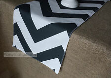 Charcoal Gray Table Runner Chevron Table Centerpiece Dining Home Decor Linens
