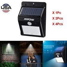 Mpow Outdoor Solar Powered Motion Sensor Lights Garden Waterproof 1 / 2 / 4 Pack